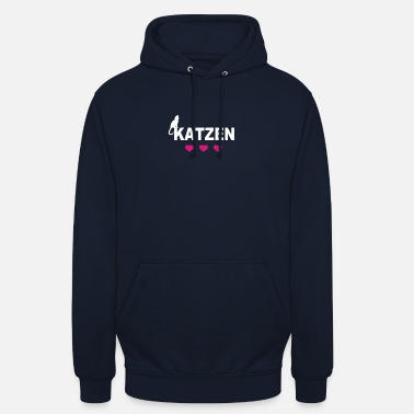 Cats with pink hearts - Unisex Hoodie