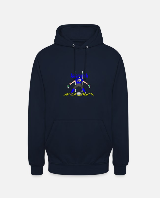 Lyon Rugby Toulousain Hoodies & Sweatshirts - RUGBY 15 BLUE players - Unisex Hoodie navy