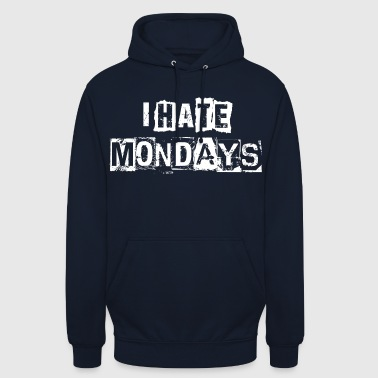 hatemondays - Sweat-shirt à capuche unisexe