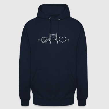 Love for Volleyball - Unisex Hoodie