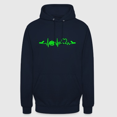 Halloween heart beat sweet or sour - Unisex Hoodie