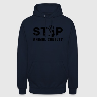 Stop for animal brutality - Unisex Hoodie