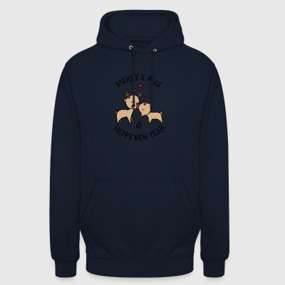 Merry Christmas New Year's elanden - Hoodie unisex