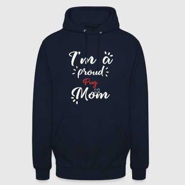 Mops shirt for proud pug moms - Unisex Hoodie