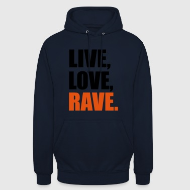 2541614 13914247 rave - Sweat-shirt à capuche unisexe