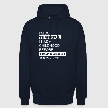 Technologie chemise grand-parent - Sweat-shirt à capuche unisexe
