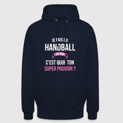 Handball super pouvoir femme - Sweat-shirt à capuche unisexe