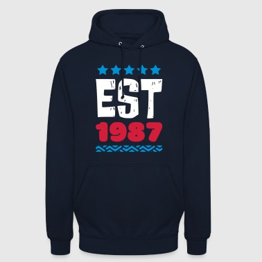 EST 1987 - ESTABLISHED IN 1987 - Unisex Hoodie