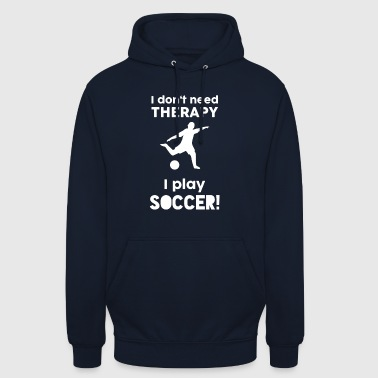 Football Sports Therapy Funny Sayings Gift - Unisex Hoodie