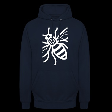 Manchester Bee (White) - Unisex Hoodie