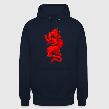 Glowing dragon - Sweat-shirt à capuche unisexe