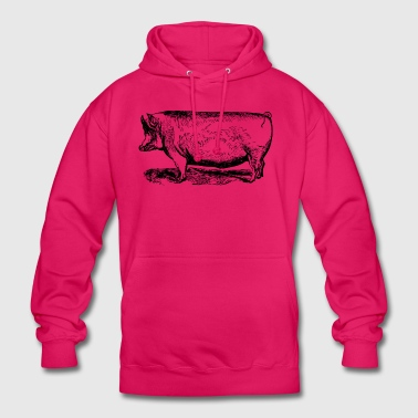 porc - Sweat-shirt à capuche unisexe