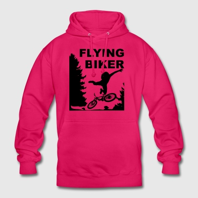 Departing Biker MTB bike forest departure fall - Unisex Hoodie