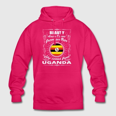 beauty comes from UGANDA png - Unisex Hoodie