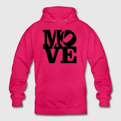 move Homage to Robert Indiana move black inside - Unisex Hoodie