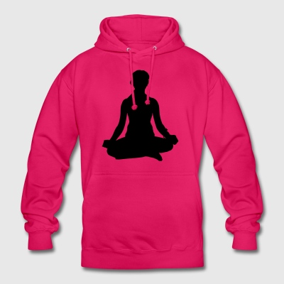 femme de méditation de yoga - Sweat-shirt à capuche unisexe