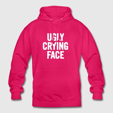 Ugly Crying Face White - Unisex Hoodie