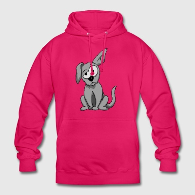 weird dog floppy ear funny cartoon gift - Unisex Hoodie