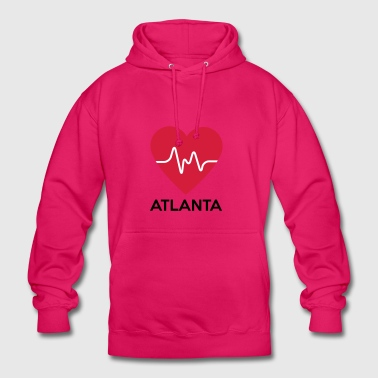coeur Atlanta - Sweat-shirt à capuche unisexe