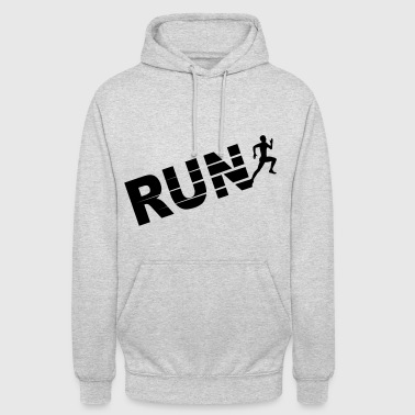 Run, course à pied - Sweat-shirt à capuche unisexe