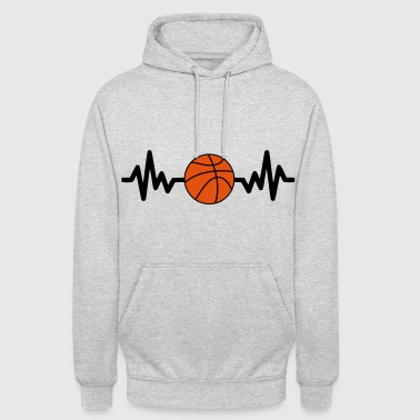 basket basketball is life - Bluza z kapturem typu unisex