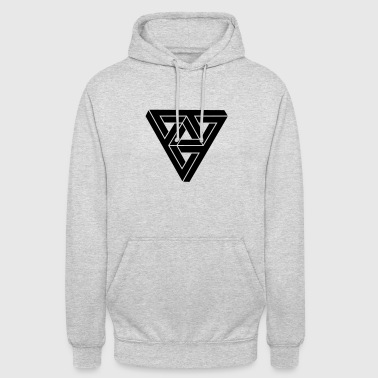 Optical illusion Triangle Minimal Shape - Hoodie unisex