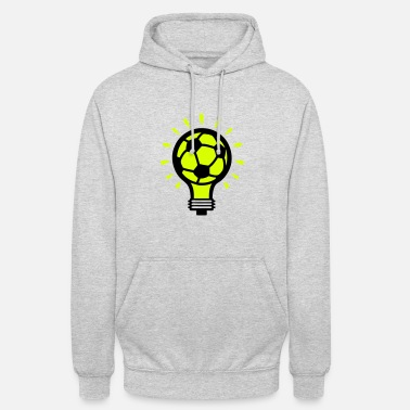 Concept football ball bulb concept design - Unisex Hoodie