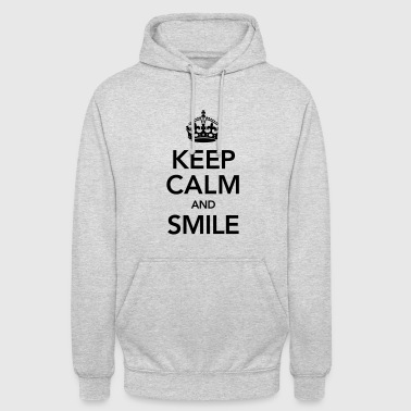 Keep Calm And Smile - Felpa con cappuccio unisex