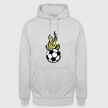 ballon football soccer flamme fire flame - Sweat-shirt à capuche unisexe
