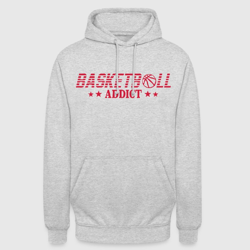 basketball addict balon sport - Sweat-shirt à capuche unisexe