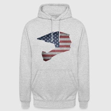 DOWNHILL HELM USA STYLE - Unisex Hoodie