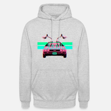 Back To The Future Retro Delorean - Hoodie unisex