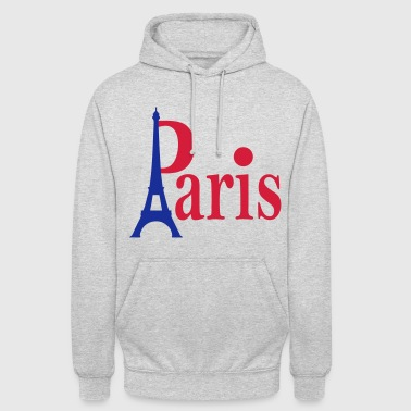 Paris Capitale France - Sweat-shirt à capuche unisexe