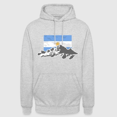 Argentina - Mountains & Flag - Sweat-shirt à capuche unisexe