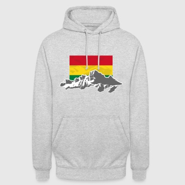 "Bolivia - Mountains & Flag - Huppari ""unisex"""
