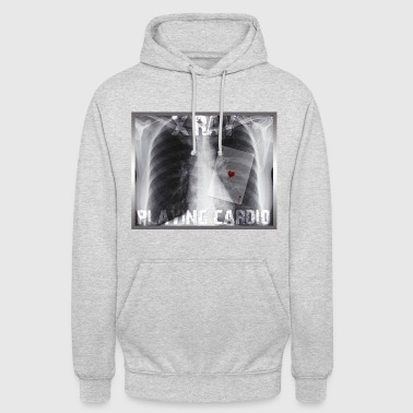 X RAY PLAYING CARDIO - Hoodie unisex
