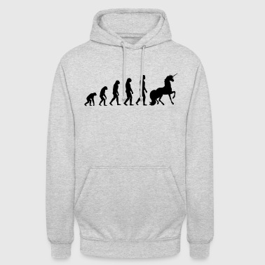 Évolution Evolution Licorne - Sweat-shirt à capuche unisexe