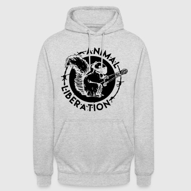 Animal Liberation Squirrel - Felpa con cappuccio unisex