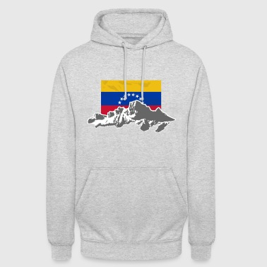 "Venezuela - Mountains & Flag - Huppari ""unisex"""