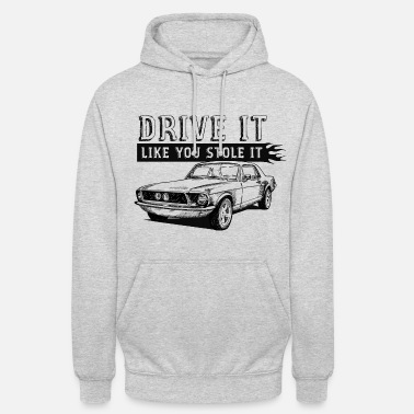 Black And White Collection muscle voiture - Sweat-shirt à capuche unisexe