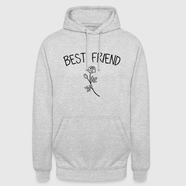 Best Friend Rose Black - Unisex Hoodie