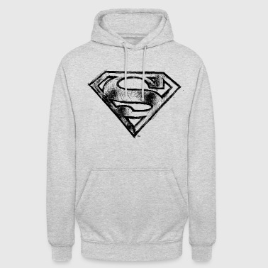 Superman Logo noir vintage Sweat-shirt - Sweat-shirt à capuche unisexe