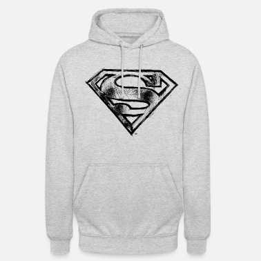 Superman S-Shield Logo Tee shirt manches longues F - Sweat-shirt à capuche unisexe