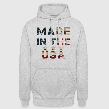 Made in USA Flag Flagge Patriot Amerika cool star - Unisex Hoodie