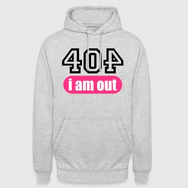 Apache Error 404 i am out - Unisex Hoodie