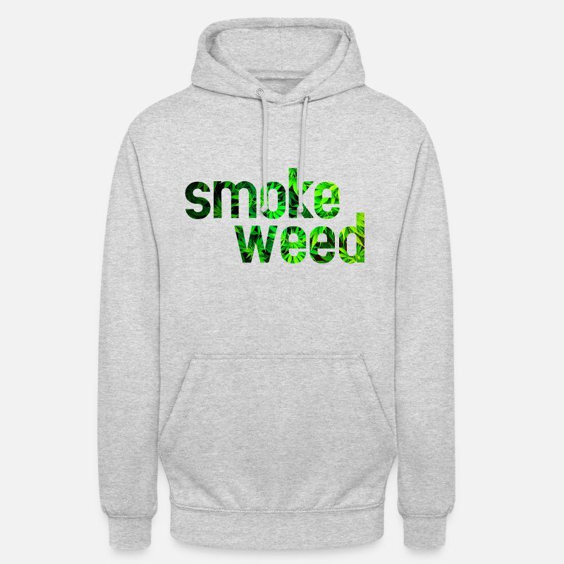 Cannabis Sweat-shirts - smoke weed - Sweat à capuche unisexe gris chiné