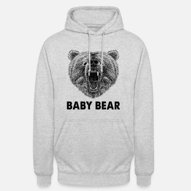 Cool Baby Bear Wild Grizzly Bear Funny Gifts - Luvtröja unisex