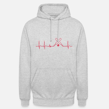 Cricket Heart beat cricket player fun cool gift fan - Unisex Hoodie