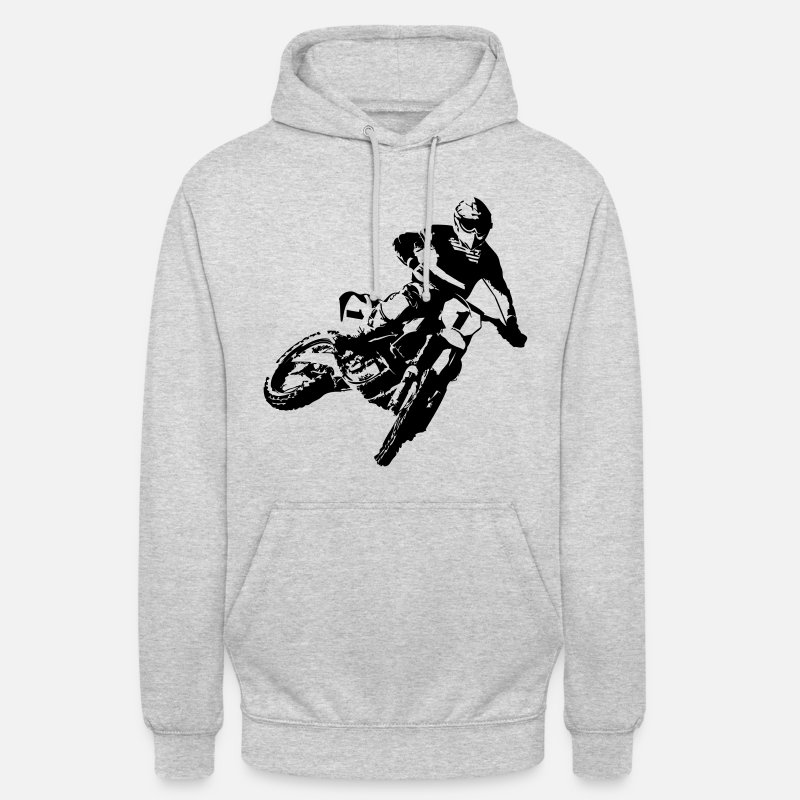Motocross Sweat-shirts - MotoCross - Sweat à capuche unisexe gris clair chiné