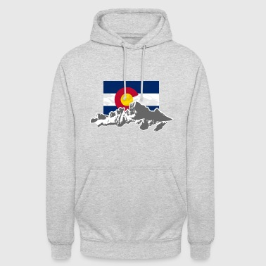 Colorado USA - Colorado - Mountains & Flag - Unisex Hoodie
